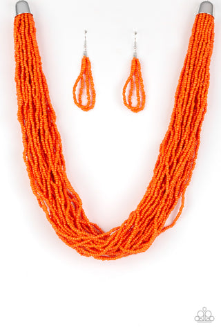 Paparazzi Accessories - The Show Must CONGO On! - Orange Necklace Set - JMJ Jewelry Collection