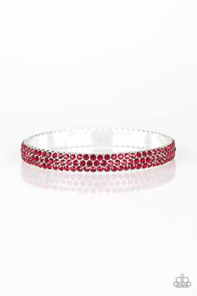 Paparazzi Accessories - Ballroom Bling - Red Bangles - JMJ Jewelry Collection