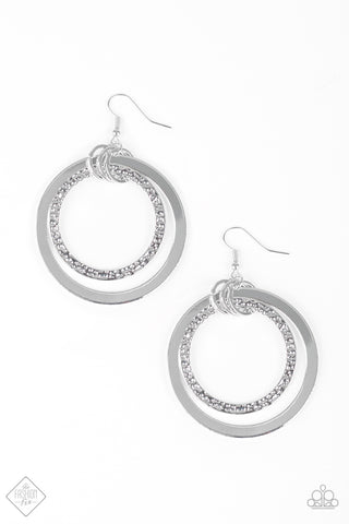 Paparazzi Accessories - East End Edge - Silver Earrings - JMJ Jewelry Collection