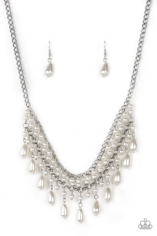Paparazzi Accessories - The Guest List - White Necklace Set - JMJ Jewelry Collection