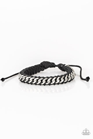 Paparazzi Accessories - Rugged Ranger - Black Bracelet - JMJ Jewelry Collection