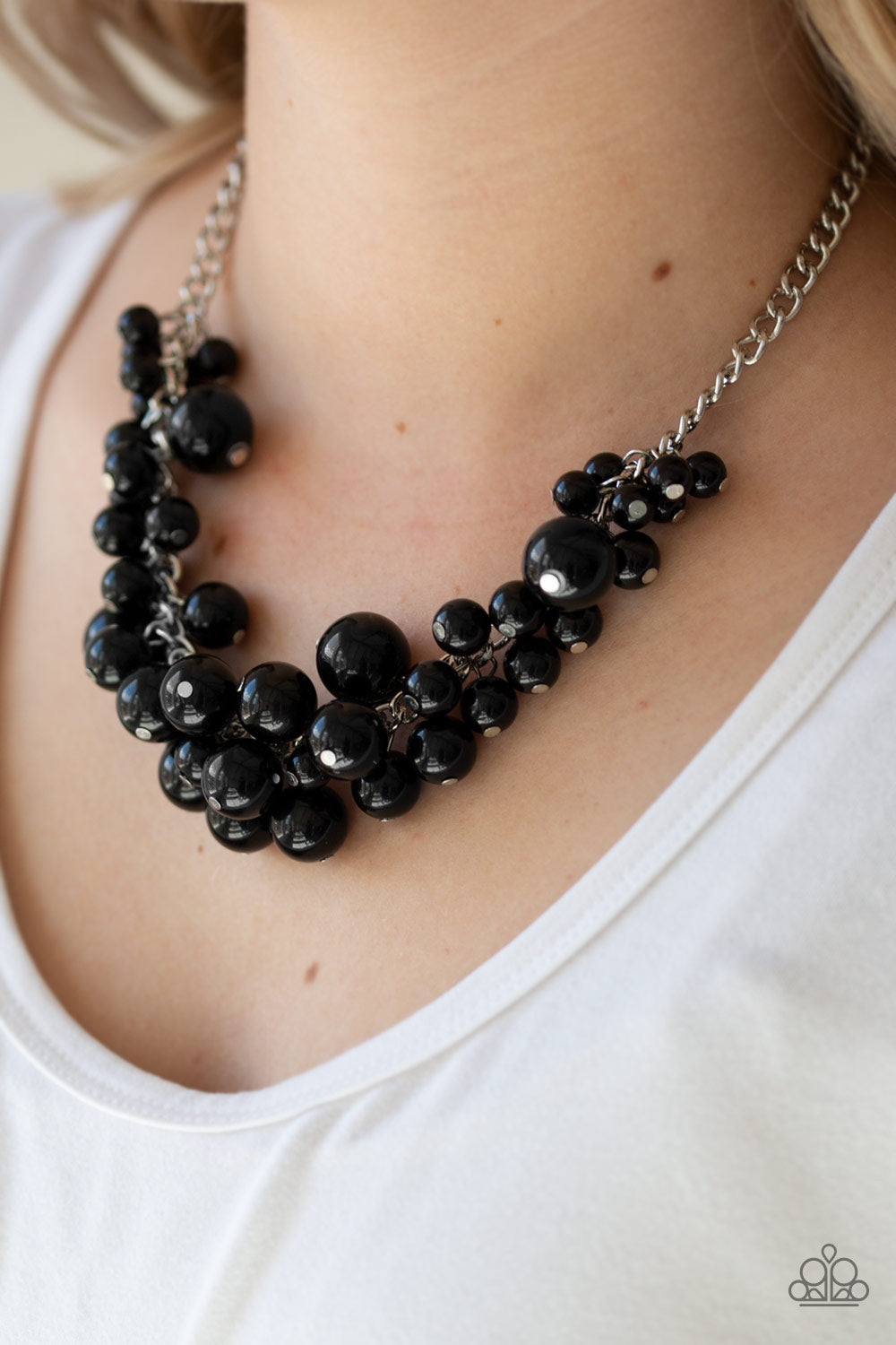 Paparazzi Accessories - Glam Queen - Black Necklace Set - JMJ Jewelry Collection