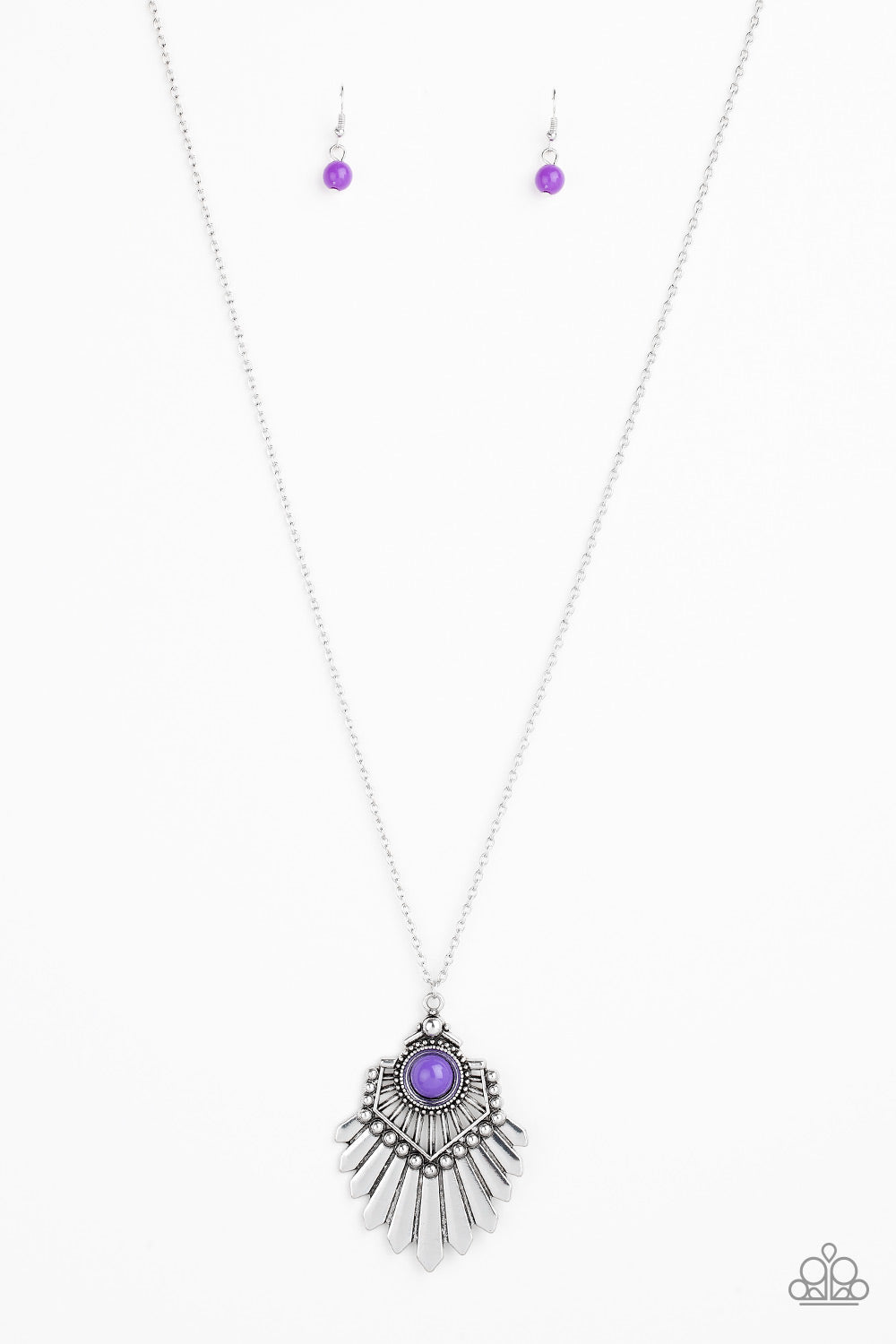Paparazzi Accessories - Inde-PENDANT Idol - Purple Necklace Set - JMJ Jewelry Collection