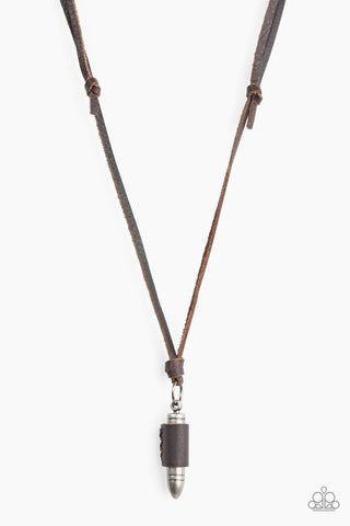 Paparazzi Accessories - Boldly Bulletproof - Brown Necklace Set - JMJ Jewelry Collection