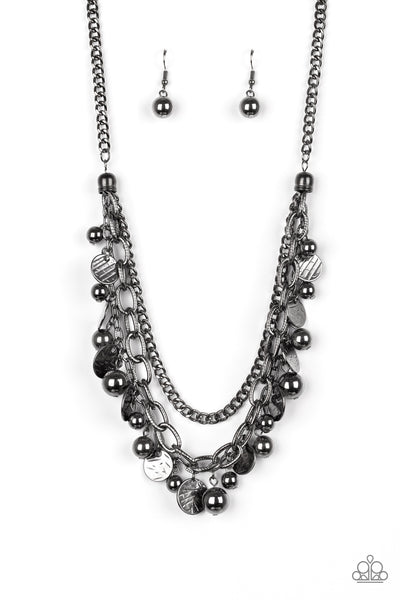Paparazzi Accessories - Cast Away Treasure - Black Necklace Set - JMJ Jewelry Collection