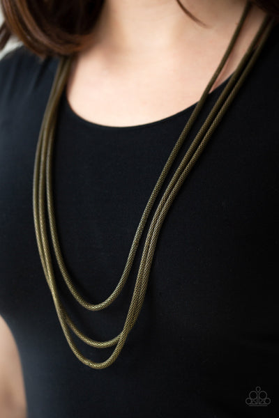 Paparazzi Accessories - Street Sweep - Brass Necklace Set - JMJ Jewelry Collection