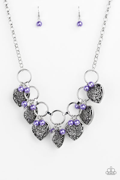 Paparazzi Accessories - Very Valentine - Purple Necklace Set - JMJ Jewelry Collection