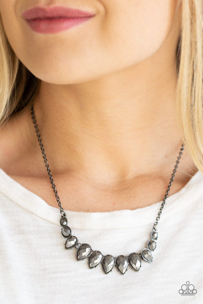 Paparazzi Accessories - Street REGAL - Black Necklace Set - JMJ Jewelry Collection