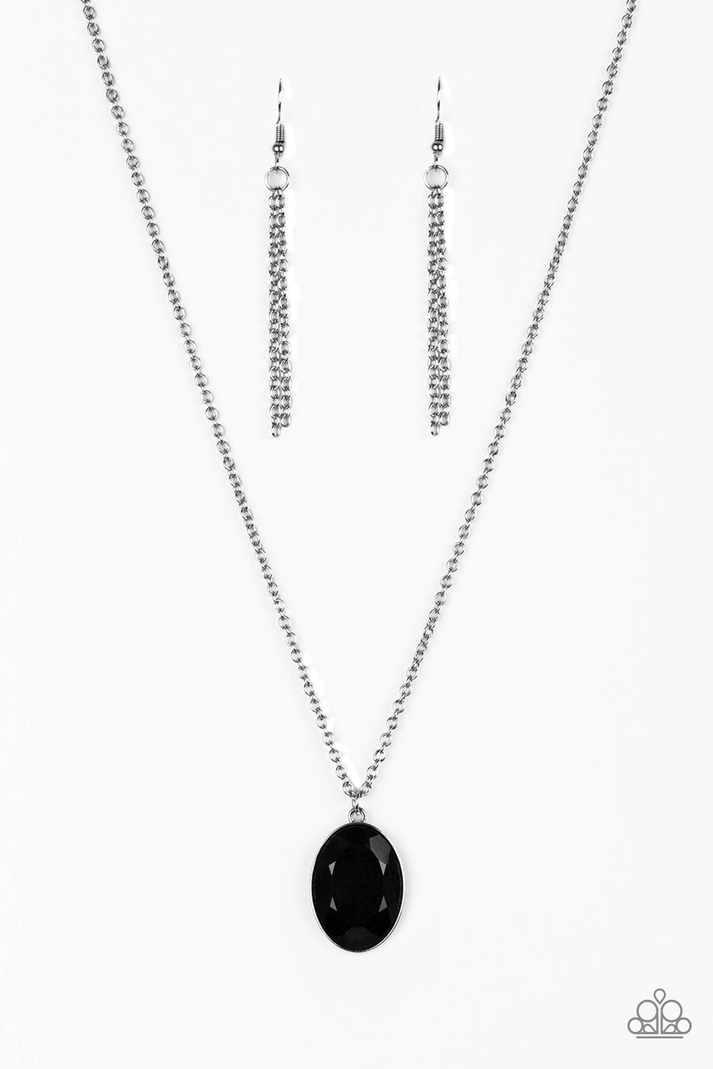 Paparazzi Accessories - Definitely Duchess - Black Necklace Set - JMJ Jewelry Collection