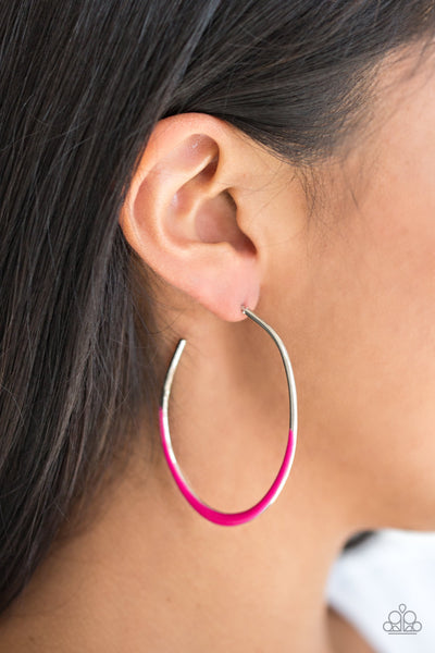 Paparazzi Accessories - So Seren-DIP-itous - Pink Earrings - JMJ Jewelry Collection