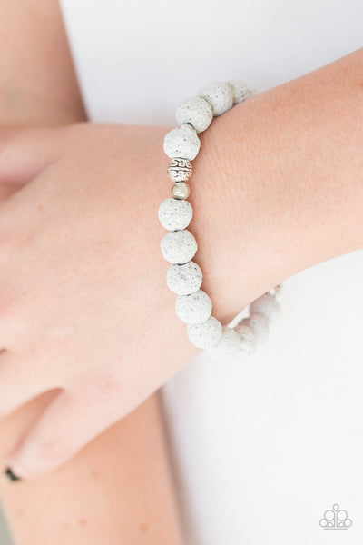 Paparazzi Accessories - Steady Now - White Bracelets - JMJ Jewelry Collection