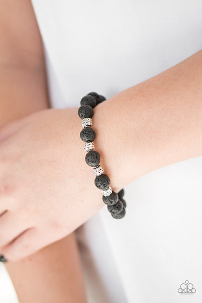 Paparazzi Accessories - Down To Earth - Black Bracelet - JMJ Jewelry Collection