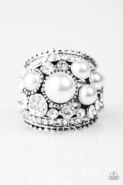 Paparazzi Accessories - Money On My Mind - White Ring - JMJ Jewelry Collection