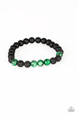 Paparazzi Accessories - Tone Down - Green Bracelet - JMJ Jewelry Collection