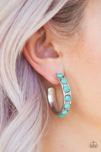 Paparazzi Accessories - Western Watering Hole - Blue Earrings - JMJ Jewelry Collection