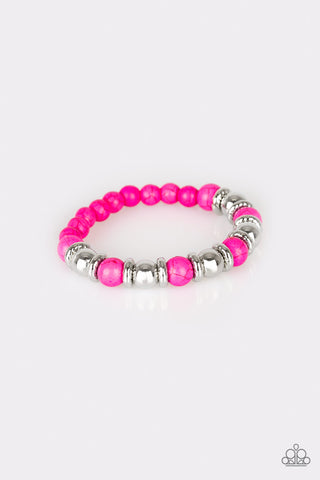 Paparazzi Accessories - Across the Mesa - Pink Bracelet