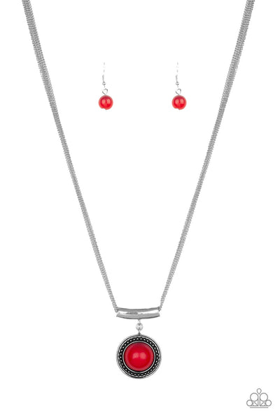 Paparazzi Accessories - Gypsy Gulf - Red Necklace Set - JMJ Jewelry Collection