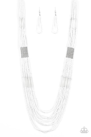 Paparazzi Accessories - Let It BEAD - White Necklace Set