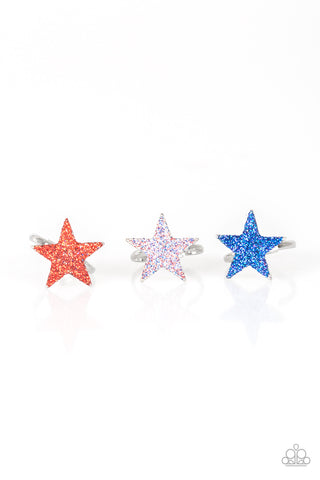 Paparazzi Accessories - Starlet Shimmer - Twinkling Star Ring - JMJ Jewelry Collection