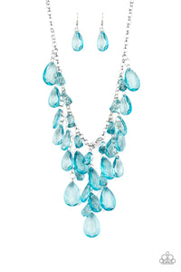 Paparazzi Accessories - Irresistible Iridescence - Blue Necklace Set - JMJ Jewelry Collection