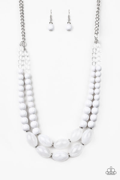 Paparazzi Accessories - Sundae Shoppe - White Necklace Set - JMJ Jewelry Collection
