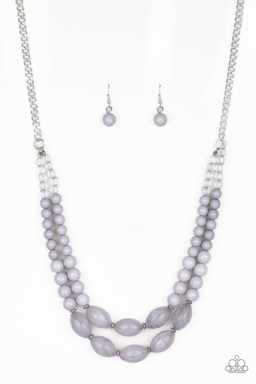 Paparazzi Accessories - Sundae Shoppe - Silver Necklace Set - JMJ Jewelry Collection