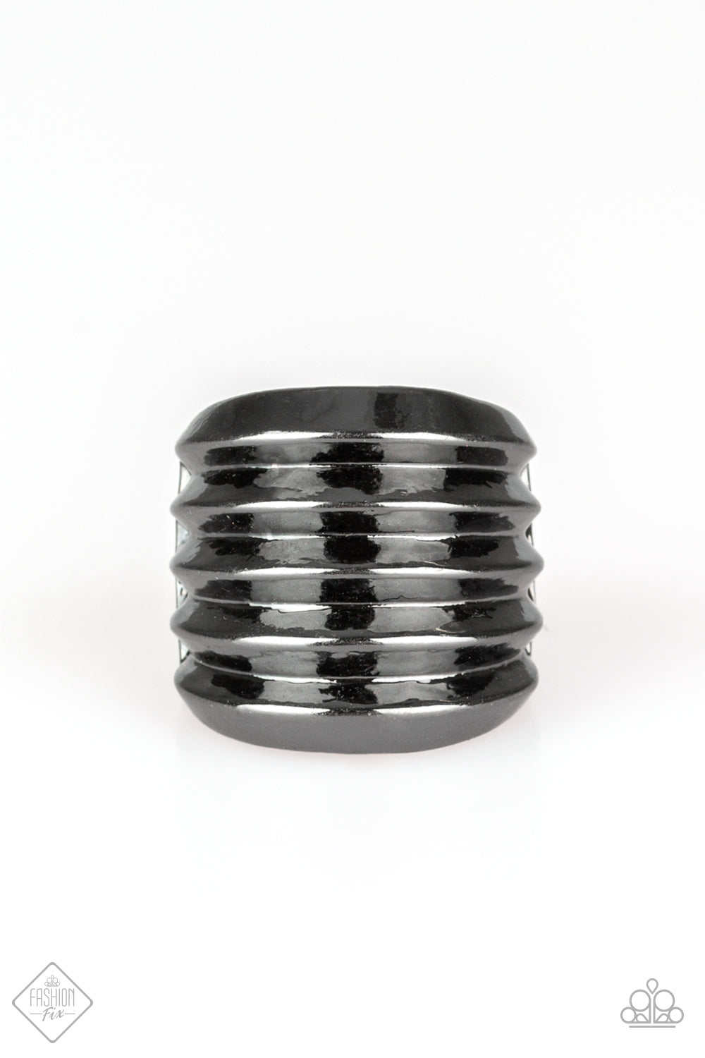Paparazzi Accessories - Hit Em Where It Hurts - Gunmetal Color Ring - JMJ Jewelry Collection