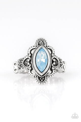 Paparazzi Accessories - Glass Half-COLORFUL - Blue Ring