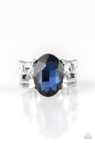 Paparazzi Accessories - Shine Bright Like A Diamond - Blue Ring - JMJ Jewelry Collection