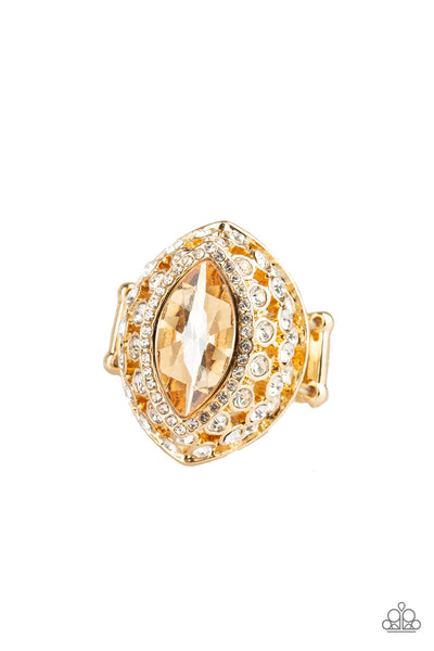 Paparazzi Accessories - Royal Radiance - Gold Ring - JMJ Jewelry Collection