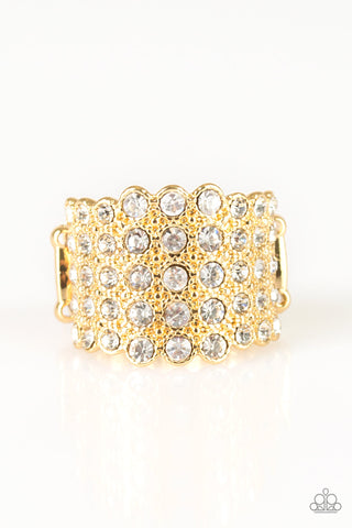 Paparazzi Accessories - Million Dollar Masquerade - Gold Ring - JMJ Jewelry Collection