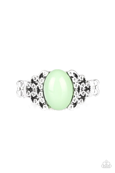 Paparazzi Accessories - Princess Problems - Green Ring - JMJ Jewelry Collection