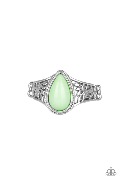 Paparazzi Accessories - The ZEST Of Intentions - Green Ring - JMJ Jewelry Collection