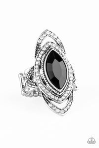 Paparazzi Accessories - Hot Off The EMPRESS - Black Ring - JMJ Jewelry Collection