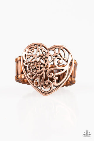 Paparazzi Accessories - Meet Your MATCHMAKER - Copper Ring - JMJ Jewelry Collection