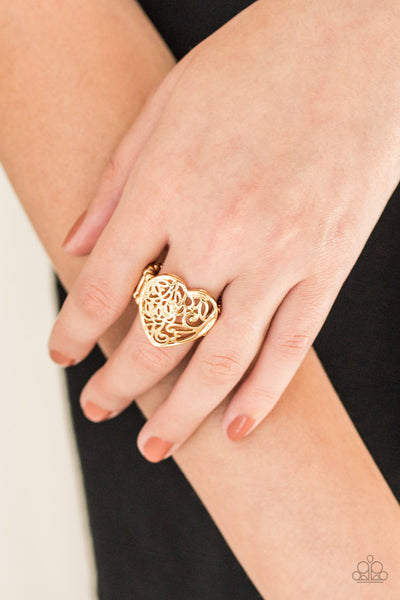 Paparazzi Accessories - Meet Your MATCHMAKER - Gold Ring - JMJ Jewelry Collection