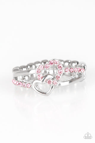 Paparazzi Accessories - The Perfect MATCHMAKER - Pink Ring - JMJ Jewelry Collection
