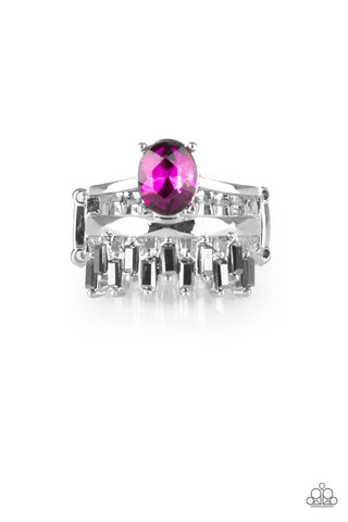 Paparazzi Accessories - Crowned Victor - Pink Ring