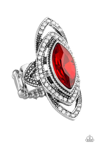 Paparazzi Accessories - Hot Off The EMPRESS - Red Ring - JMJ Jewelry Collection