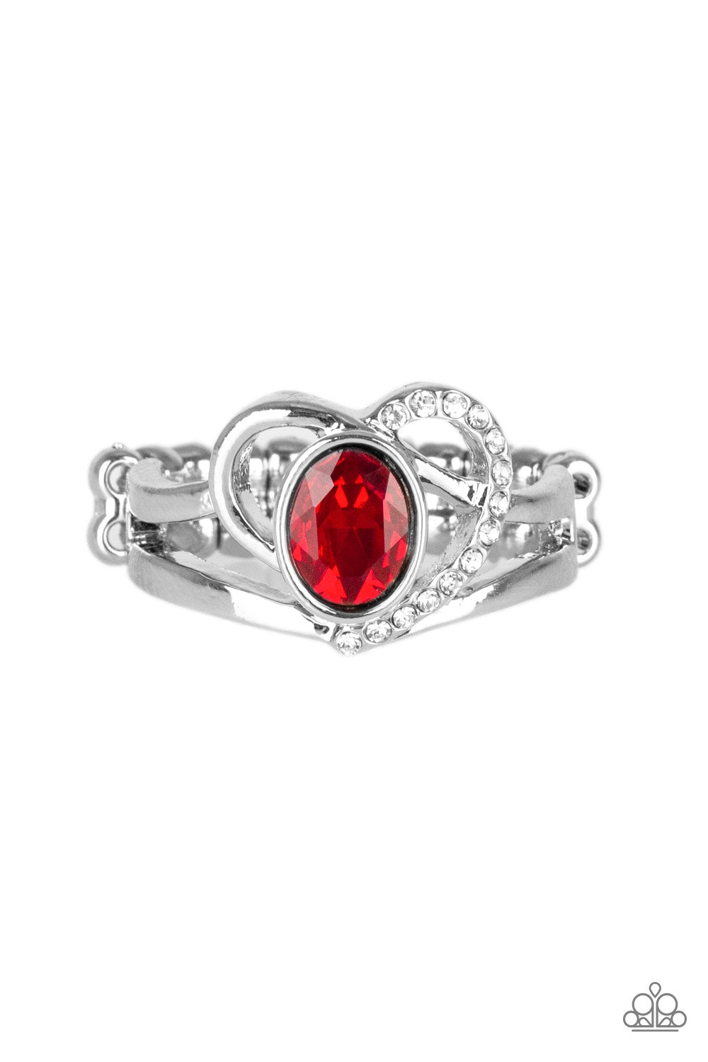 Paparazzi Accessories - No HEART-Strings Attached - Red Ring - JMJ Jewelry Collection