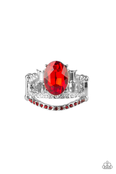 Paparazzi Accessories - Spectacular Sparkle - Red Ring - JMJ Jewelry Collection