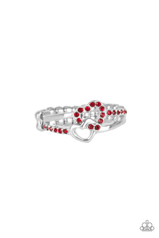Paparazzi Accessories - The Perfect MATCHMAKER - Red Ring - JMJ Jewelry Collection