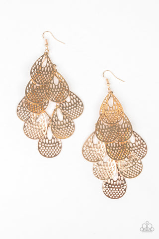 Paparazzi Accessories - Lure Them In - Gold Earrings - JMJ Jewelry Collection