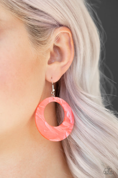 Paparazzi Accessories - Tropical Trailblazer - Orange Earrings - JMJ Jewelry Collection