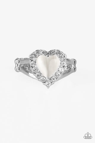 Paparazzi Accessories - Love Is In The Air - White Ring - JMJ Jewelry Collection