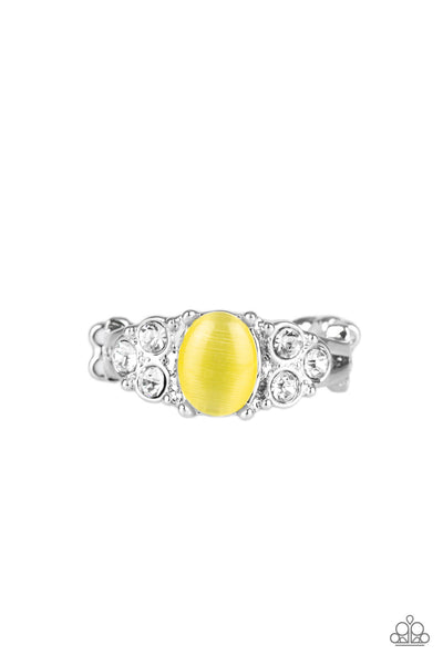 Paparazzi Accessories - Extra Spark-tacular - Yellow Ring - JMJ Jewelry Collection