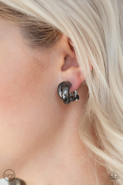 Paparazzi Accessories - Dining Out - Black Earrings - JMJ Jewelry Collection
