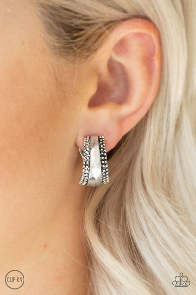 Paparazzi Accessories - Bells Ringing - Silver Earrings - JMJ Jewelry Collection