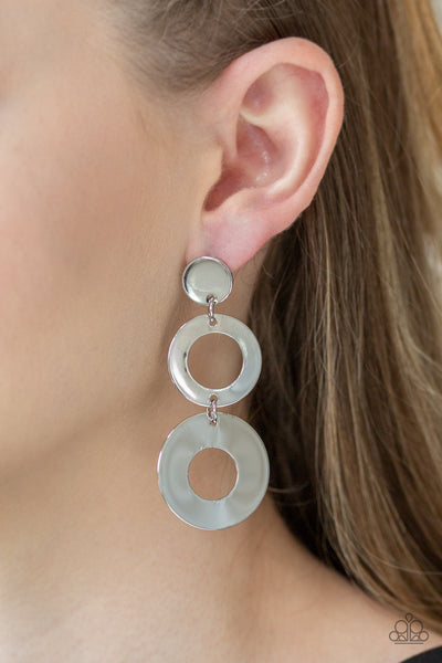 Paparazzi Accessories - Pop Idol - Silver Earrings - JMJ Jewelry Collection