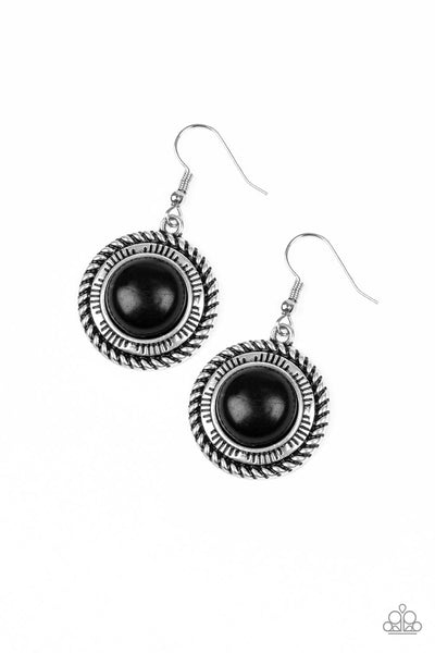 Paparazzi Accessories - Natural-Born Nomad - Black Earrings - JMJ Jewelry Collection